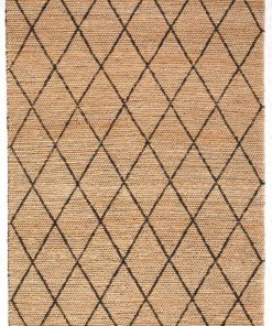 Tempest 170cm x 230cm Jute Rug - Black by Interior Secrets - AfterPay Available