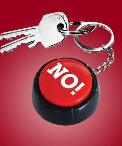 `The No Button` Sound Effects Keyring | 10 Pre-Recorded Ways To Say NO