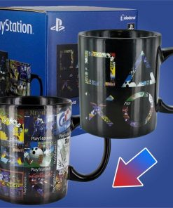 Playstation Icons Classic Game Covers Heat Change Mug