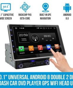 """10.1"""" In Dash Car DVD Player Universal Android 8 Double 2 DIN Stereo GPS WiFi BT Head Unit"""