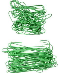 Green Wire Ornament & Decoration Hanger - 100 Pack