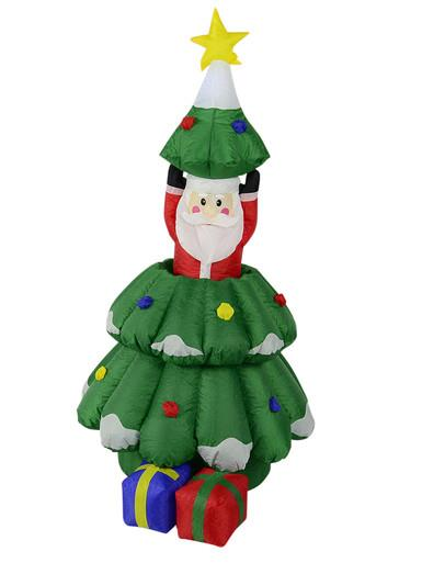 Santa In Christmas Tree With Gifts Inflatable - up to 1.6m