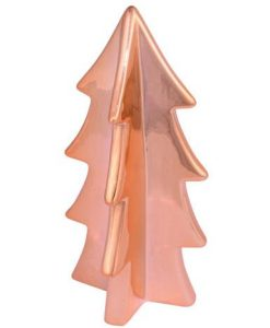 Copper Finish Ceramic Tree Ornament - 16cm
