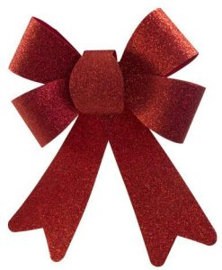 Red PVC Bow Decoration - 24cm