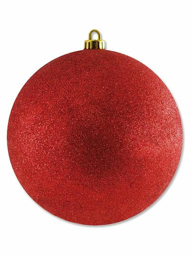 Large Glittered Red Bauble Decoration - 20cm
