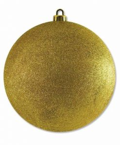 Large Glittered Gold Bauble Decoration - 20cm