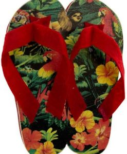 Red Tropical Thongs Hanging Decoration - 10cm