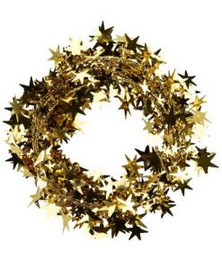 Copper Star Wired Garland - 7.6m