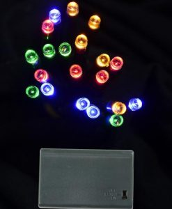 20 Multi Colour LED Battery Light - 2.4m
