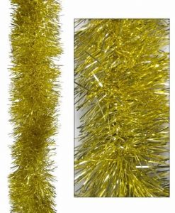 Gold Metallic 8ply Tinsel Garland - 15cm x 5m