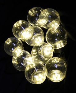 10 Clear G60 Festoon Party Lights With 50 Warm White LED's  - 5m