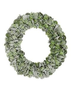 Green Pine Cone Wreath - 32cm