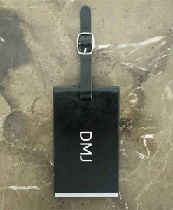Black Luggage Tag With Initials