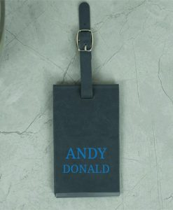 Personalised Name Grey Luggage Tag
