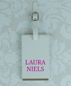 Personalised Name White Luggage Tag