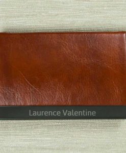 Engraved Name Brown Card Holder