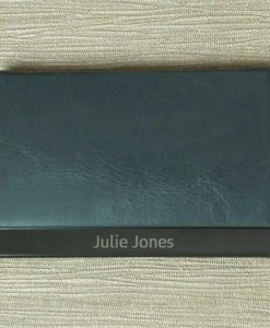 Engraved Name Grey Card Holder