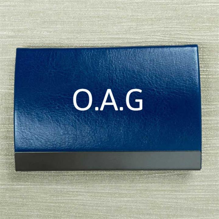 Personalised Initials Blue Card Holder