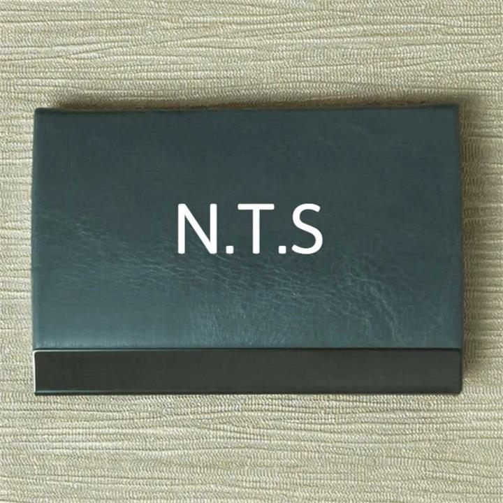 Personalised Initials Grey Card Holder