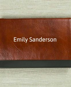 Personalised Name Brown Card Holder