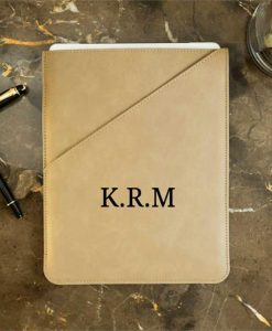 Personalised Initials Taupe Tablet Case