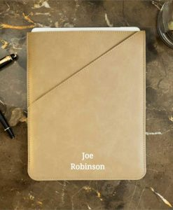 Personalised Name Taupe Tablet Case