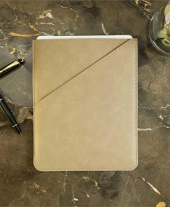 Taupe Faux Leather Tablet Case
