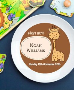 Personalised First Boy Plate