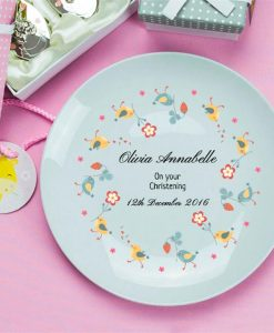 On Your Christening Personalised Plate