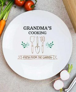 Personalised Chefs Garden Plate