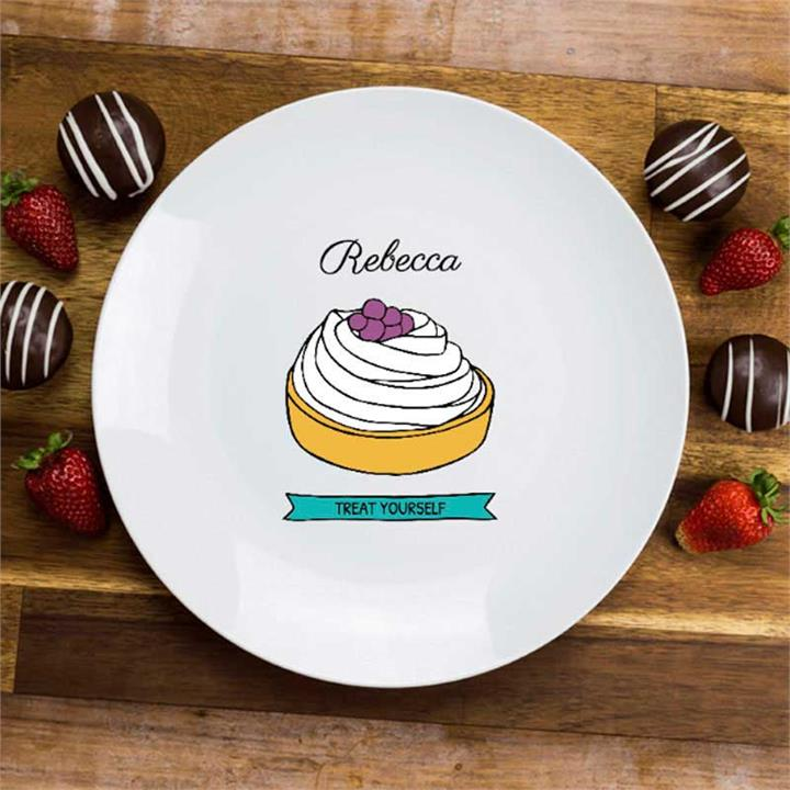 Treat Yourself Cake Plate