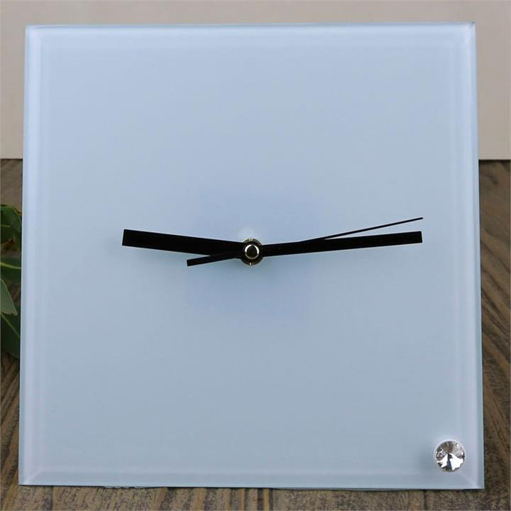 Square Glass Table Clock