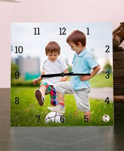 Personalised Square Glass Photo Clock