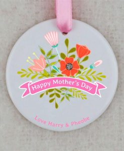 Happy Mother's Day Circular Ornament