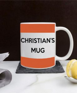 Personalised Orange Stripes Mug