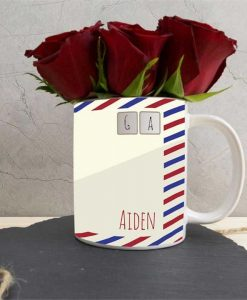 Valentines Day Personalised Postcard Mug