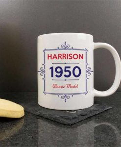 Personalised Ceramic Mug - Classic Year Model