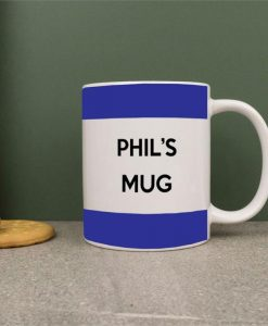 Personalised Blue Stripes Mug