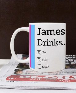 Personalised Ceramic Mug - Choose Your Drink