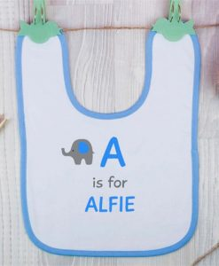Elephant Personalised Boys Bib