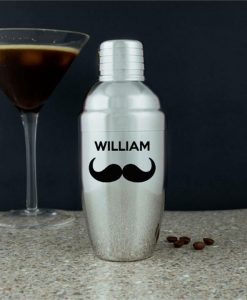 Moustache Personalised Cocktail Shaker