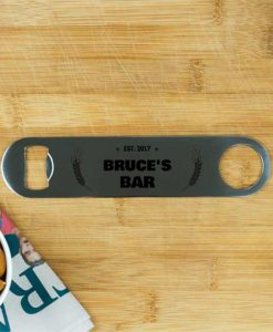 Personalised Est Stainless Steel Bottle Opener