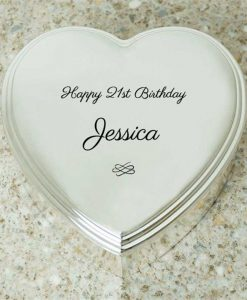 Personalised Occasion Heart Shaped Trinket Box