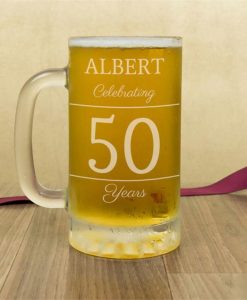 Classic Birthday Personalised Glass Tankard