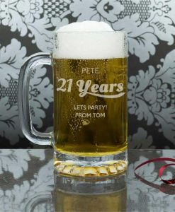 Personalised Birthday Glass Tankard