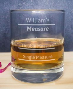 Personalised Large Measures Whisky Glass