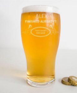 Sassy Personalised Pint Glass