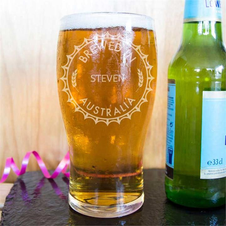 Home and Hosed Personalised Beer Glass