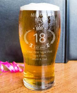 Personalised Birthday Beer Pint Glass