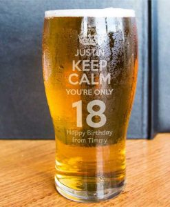 Keep Calm Birthday Pint Glass